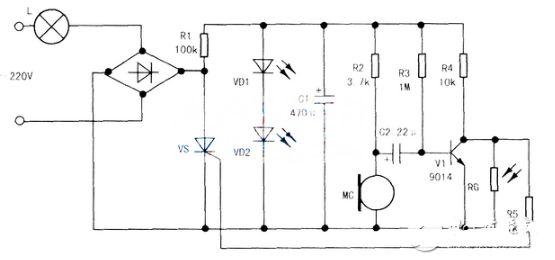 9011三级管开关电路图(一) 截至目前为止,我们都假设当三极管开关导通时,其基极与射极之间是完全短路的。事实并非如此,没有任何三极管可以完全短路而使VCE=0,大多数的小信号硅质三极管在饱和时,VCE(饱和)值约为0.2伏特,纵使是专为开关应用而设计的交换三极管,其VCE(饱和)值顶多也只能低到0.1伏特左右,而且负载电流一高,VCE(饱和)值还会有些许的上升现象,虽然对大多数的分析计算而言,VCE(饱和)值可以不予考虑,但是在测试交换电路时,必须明白VCE(饱和)值并非真的是0。 虽然VCE(饱和)的